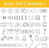Drawn Doodle Lined Icon Set Camera I with 42 icons for the creative use in graphic design