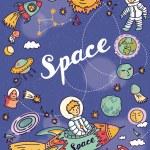 Постер, плакат: Space and astronomy set