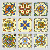 Set with seamless ornamental tile backgrounds