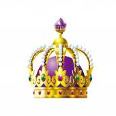 Crown with purple crystals