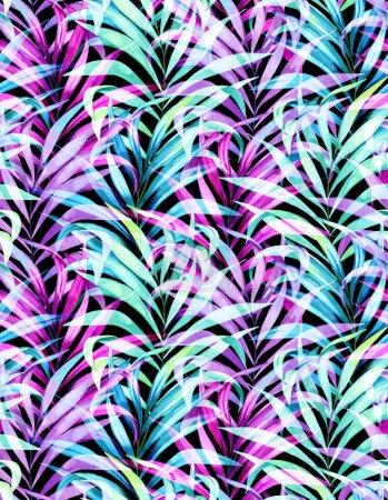 seamless neon palm pattern