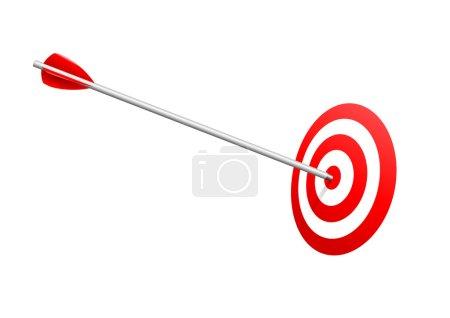 Bulls eye arrow