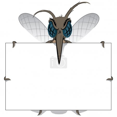 Mosquito stilt holding poster Great. Ideal for informational and institutional related sanitation and care