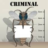 mosquitoes sting in jail holding poster Ideal for informational and institutional related sanitation and care