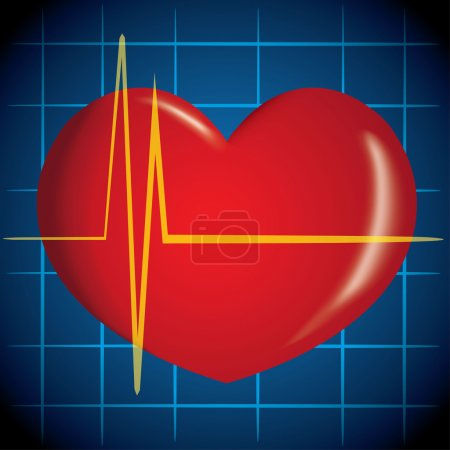 Illustration is first aid, icon heart, heart attac...