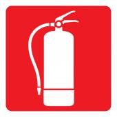 Pictogram red signaling fire extinguisher Ideal for visual communication materials and safety and fire prevention