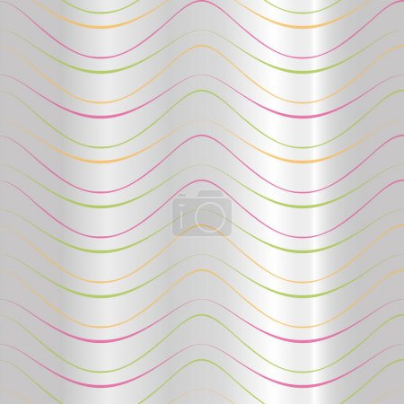 Illustration representing a background color parallel waves on the silver, ideal for artistic material and institutional