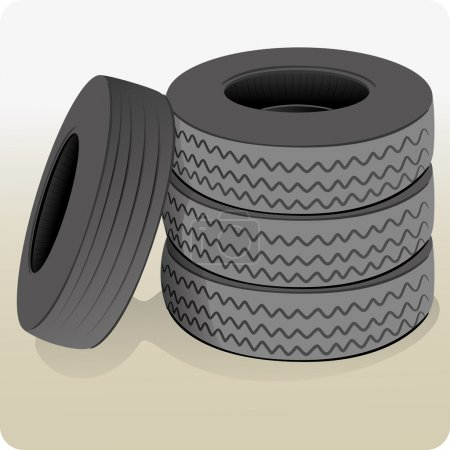 Object illustration, a lot of tires. Ideal for informational and institutional