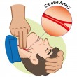 Illustration First Aid person measuring pulse thro...