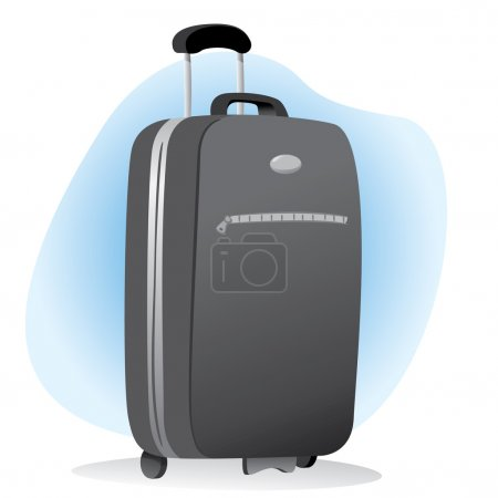 Illustration accessory bag object with wheel travel. Ideal for catalogs, information and travel guides
