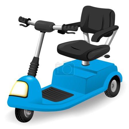Illustration Zubehör Rollstuhl Objekt, elektrisch oder motorisiert. ideal für Kataloge, informative und institutionelle