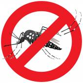 Natur, Stelzen Aedes Aegypti Moskitos mit verbotenen Zeichen. Ideal für Informations- und institutionelle Verwandte Hygiene und Pflege