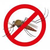 Natur, Stelzen Mücken mit verbotenen Zeichen. Ideal für Informations- und institutionelle Verwandte Hygiene und Pflege