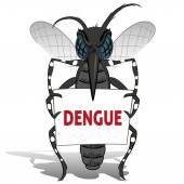 Aedes Aegypti Moskito Stelzenläufer Betrieb Poster Dengue-Fieber. Ideal für Informations- und institutionelle Verwandte Hygiene und Pflege