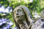 Ancient angel statue. Color image