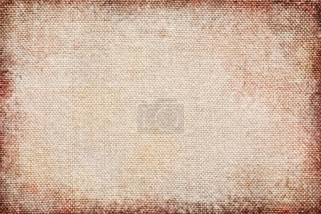 Photo for Blank Grungy Canvas Texture . Copy space - Royalty Free Image