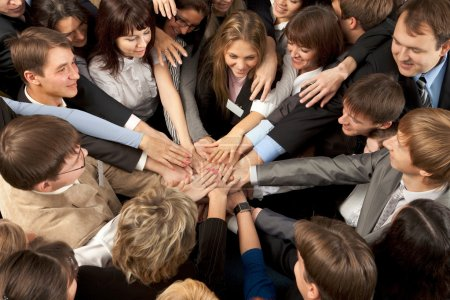Photo for Successful Business Team Joining Hands Together - Royalty Free Image