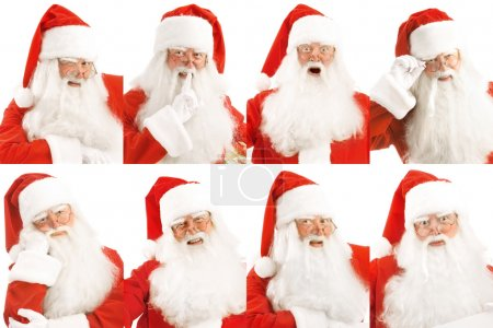 Photo for Blok 8 Santa's portraits with different emotions - Royalty Free Image