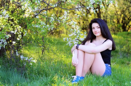 girl on nature