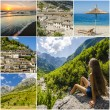 Beautiful collage of travel photos from Albania...