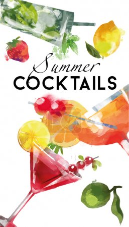 Summer Cocktails background
