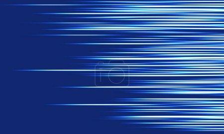 Illustration pour Illustration vectorielle dynamique abstraite du mouvement à grande vitesse de la lumière bleue. - image libre de droit