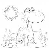 Karikatura malý dinosaurus
