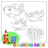 Kreslené vtipné ryby