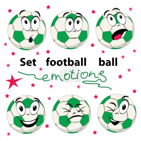 Set of football balls