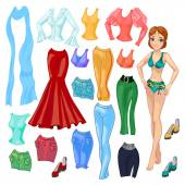 Cartoon  Doll with clothes