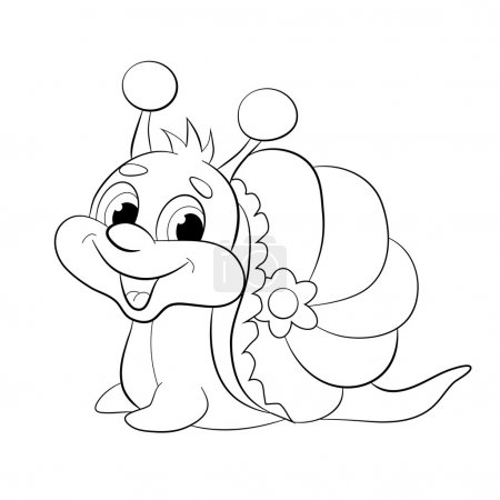 Cartoon funny snail.