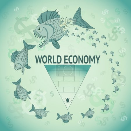 World Economy Caricature