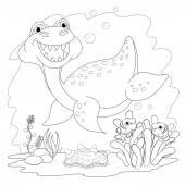 Legrační dinosaurus v moři
