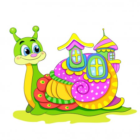Cartoon funny snail