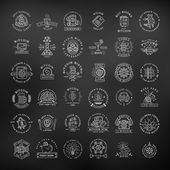 Bitcoin logo templates set Cryptocurrency badge collection Digital money labels Outline coin vector design on black background