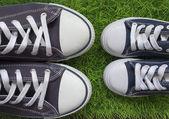 Klasszikus cipők, a zöld fű