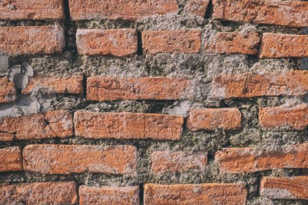 Photo for Photo red brick wall And a beautiful profile. Suitable for the crate and be assembled in a variety of media. - Royalty Free Image