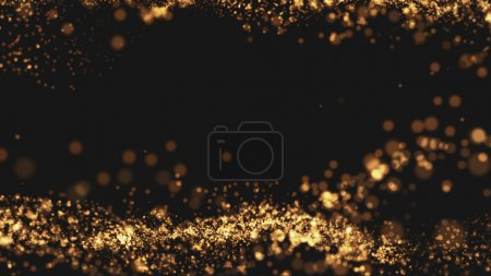 Gold background Wave motion Beautiful and elegant ...