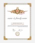 Certificate Design Template Retro template