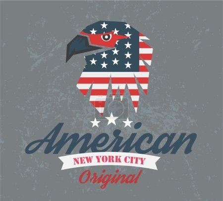 American original club, logo and t-shirt graphics, vectors