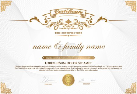 Illustration for Certificate Design Template. - Royalty Free Image
