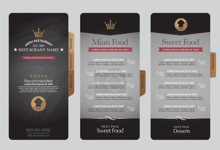 Menus are designed exquisitely beautiful, stylish and easy to us