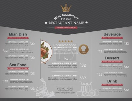 Illustration for Menus are designed exquisitely beautiful, stylish and easy to use. - Royalty Free Image