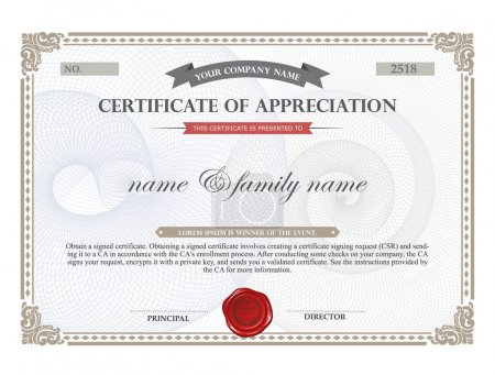 Illustration for Certificate template. - Royalty Free Image