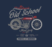 typography design motor cycle classic