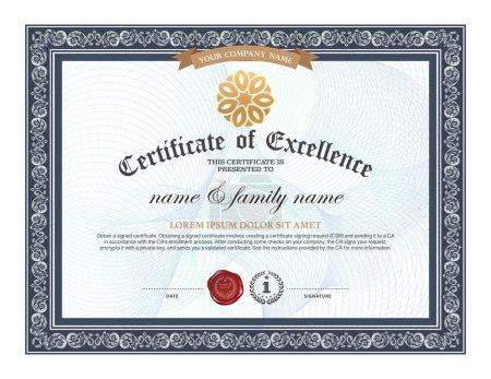 Illustration for Certificate design templat - Royalty Free Image