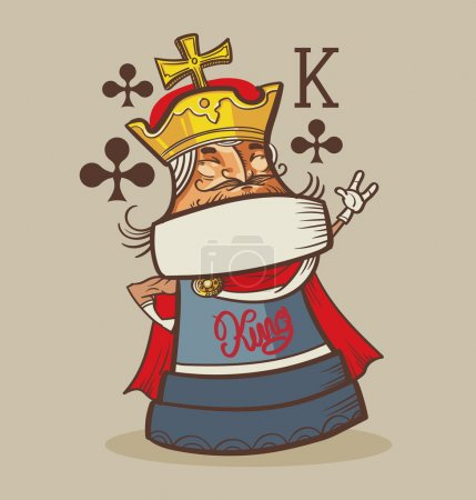 King of Clubs typography, t-shirt graphics , vectors