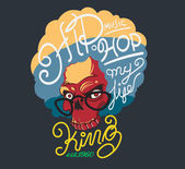 king hip hop typography, t-shirt graphics , vectors