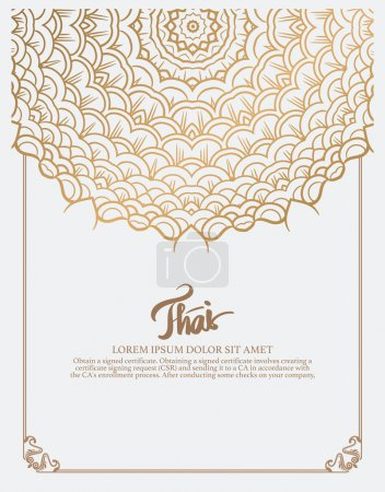 Thai art element for design.