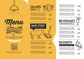 hipster and vintage art restaurant menu design template